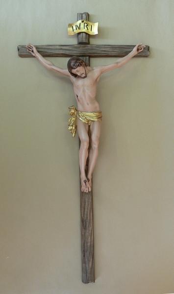 Crocefisso e corpo in legno cm. 30