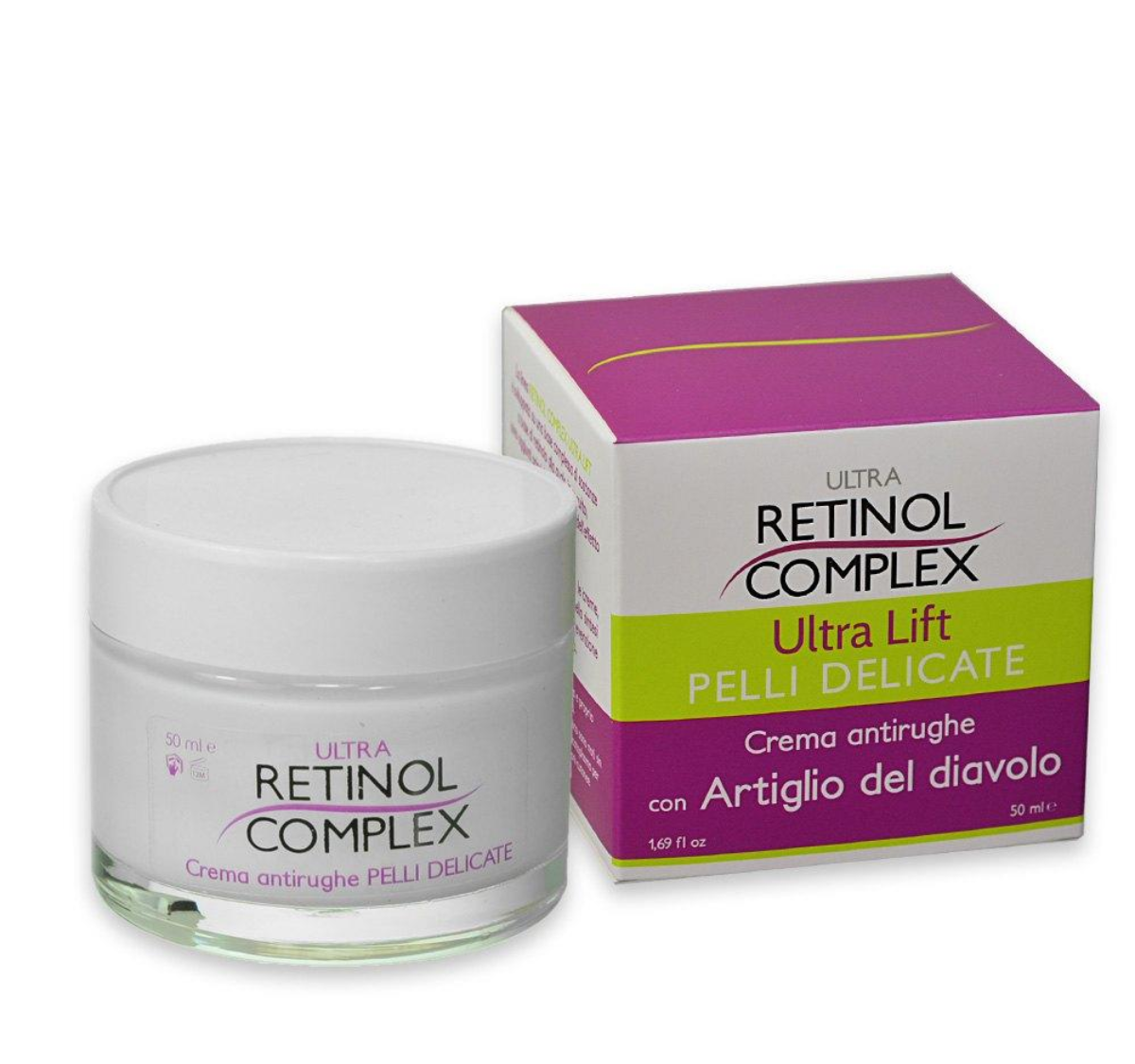 Crema Antirughe Pelli Delicate Retinol Complex