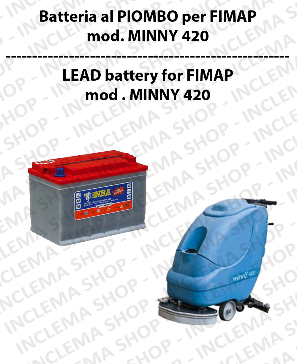 Batteria al PIOMBO per lavapavimenti FIMAP modello MINNY 420