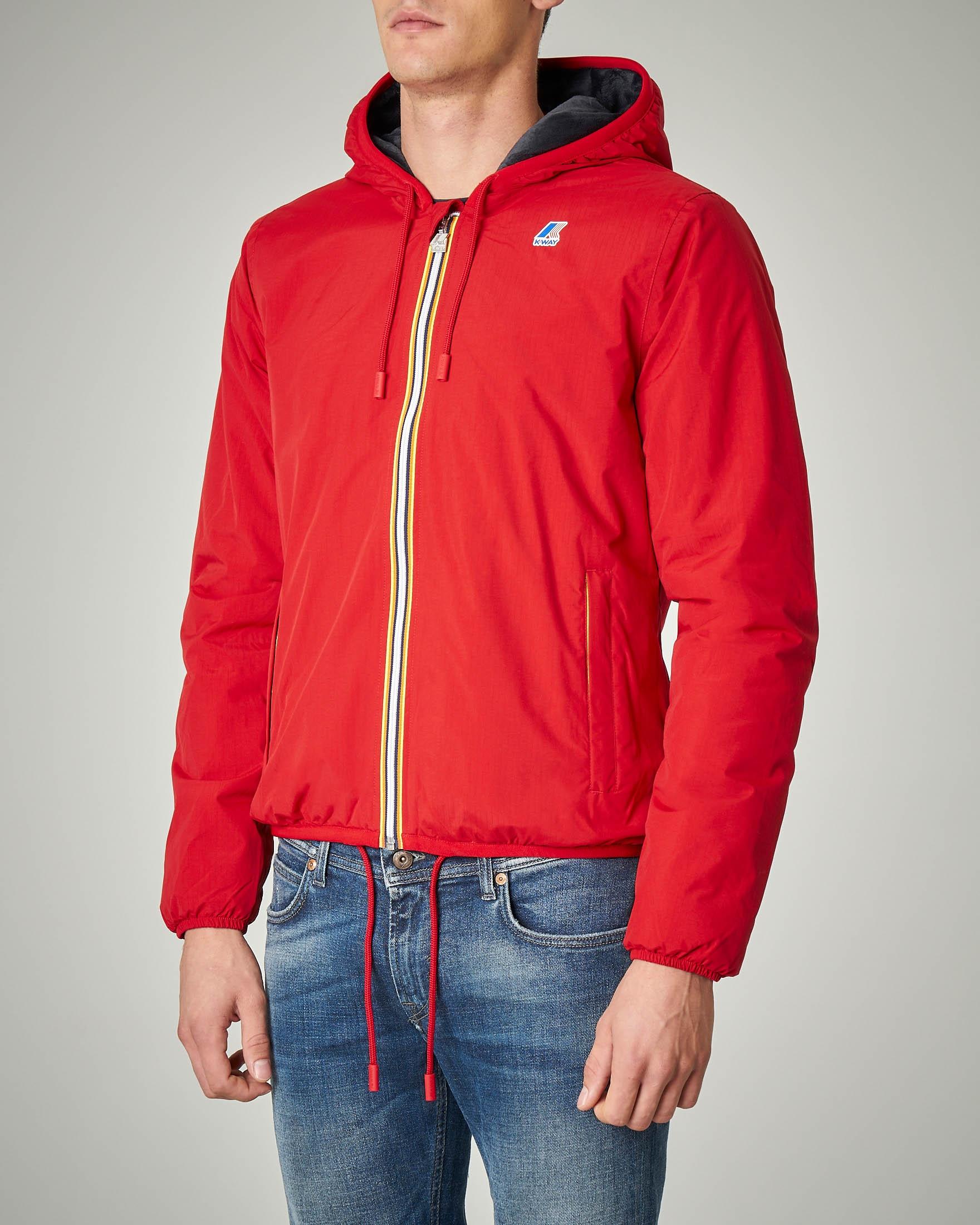 Giacca rossa in nylon Ripstop