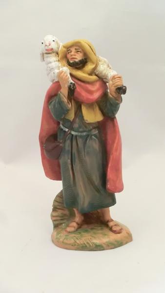 Pastore arabo con agnello in spalla cm 9,5