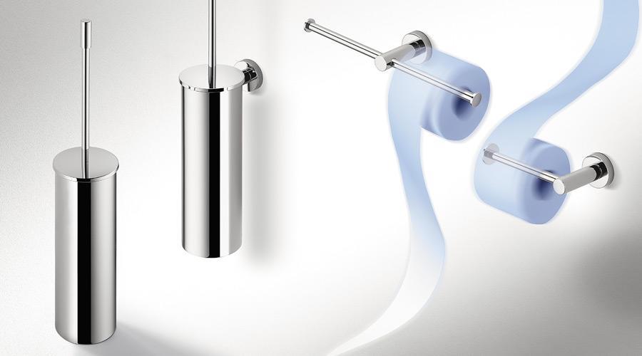 Porta scopino a parete per il bagno serie plus colombo design