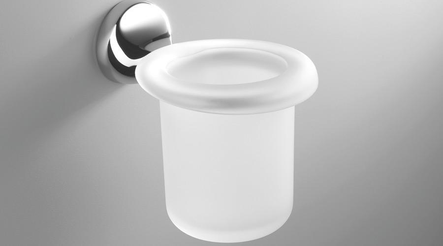 Porta bicchiere a parete per il bagno serie Melo Colombo design