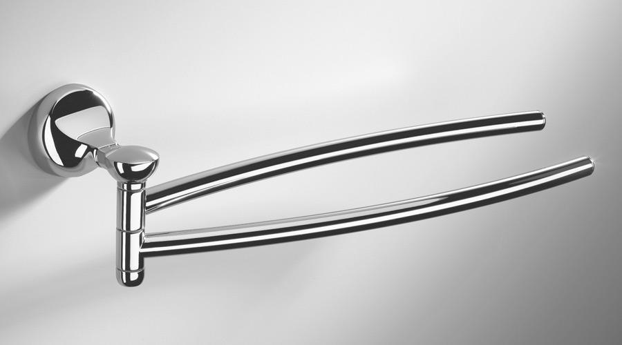 Porta salviette doppio a snodo per il bagno serie Melo Colombo design