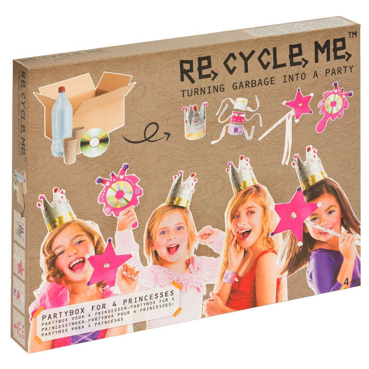 Kit 4 Costumi da principessa Set Gioco Ecologico per Bambina Re-Cycle-Me