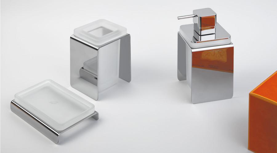 Porta sapone da appoggio per il bagno serie Forever Colombo design