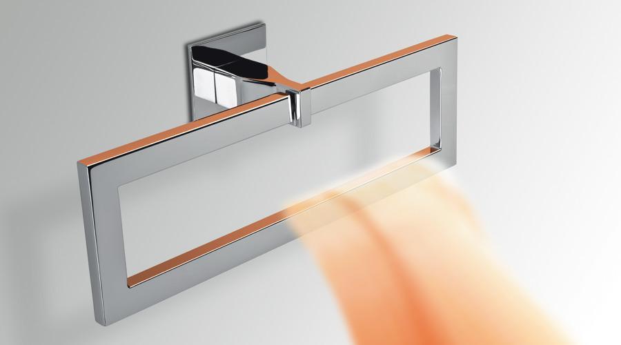 Porta salviette ad anello per il bagno serie Forever Colombo design