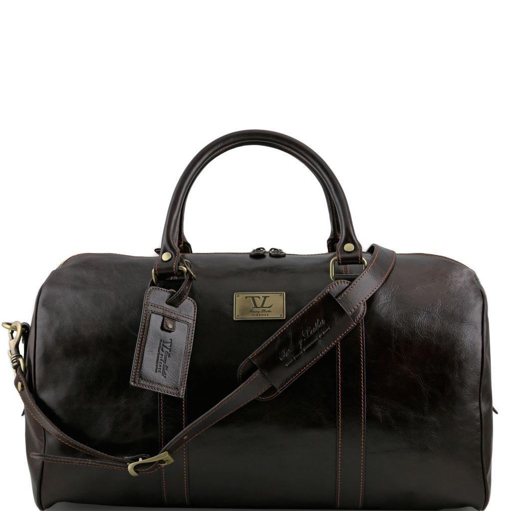 b50ecd23ae Tuscany Leather TL141247 TL Voyager - Borsa da viaggio in pelle con tasca  sul retro - Misura grande Testa di Moro