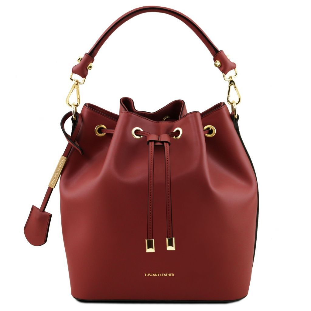 Tuscany Leather TL141531 Vittoria - Leather secchiello bag Red