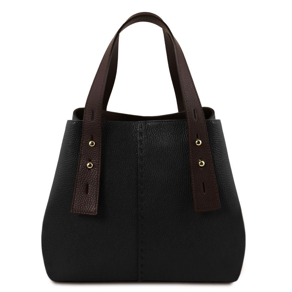 Tuscany Leather TL141730 TL Bag - Leather shopping bag Black