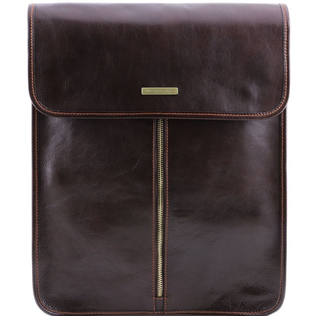 Tuscany Leather TL141307 Exclusive leather shirt case Dark Brown