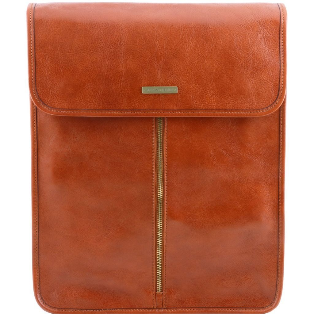 Tuscany Leather TL141307 Exclusive leather shirt case Honey