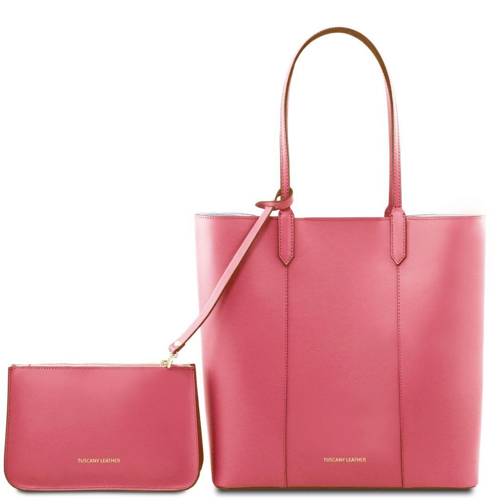 Tuscany Leather TL141709 Dafne - Leather shopping bag Dusty Rose