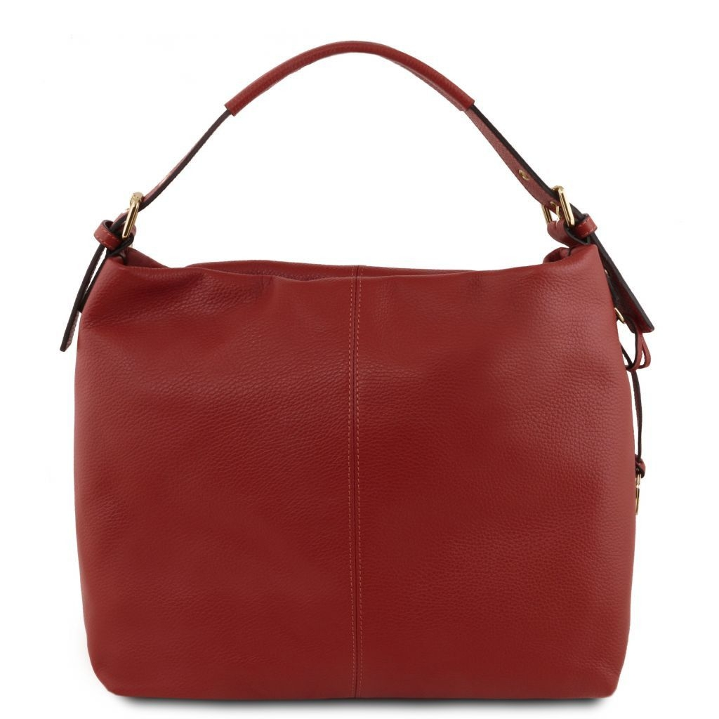 Tuscany Leather TL141719 TL Bag - Soft leather hobo bag Red