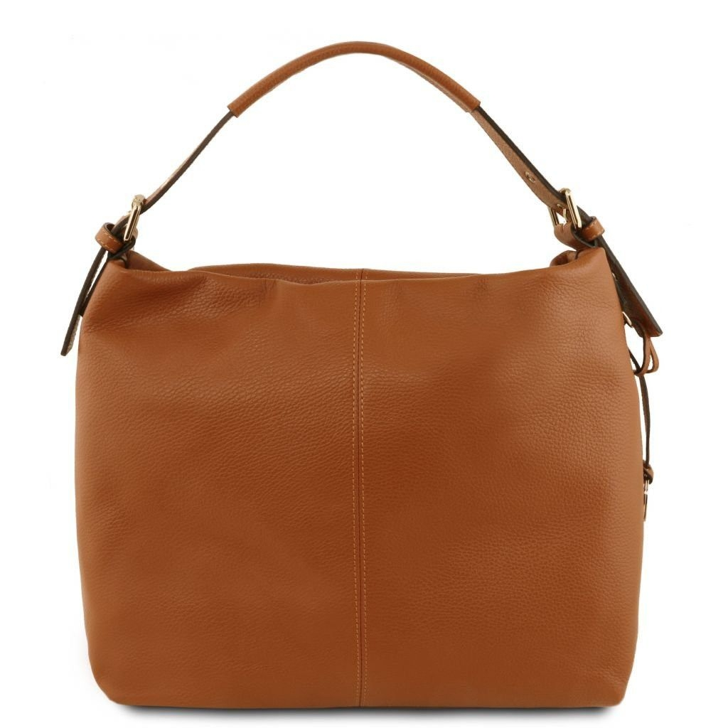 Tuscany Leather TL141719 TL Bag - Soft leather hobo bag Cognac
