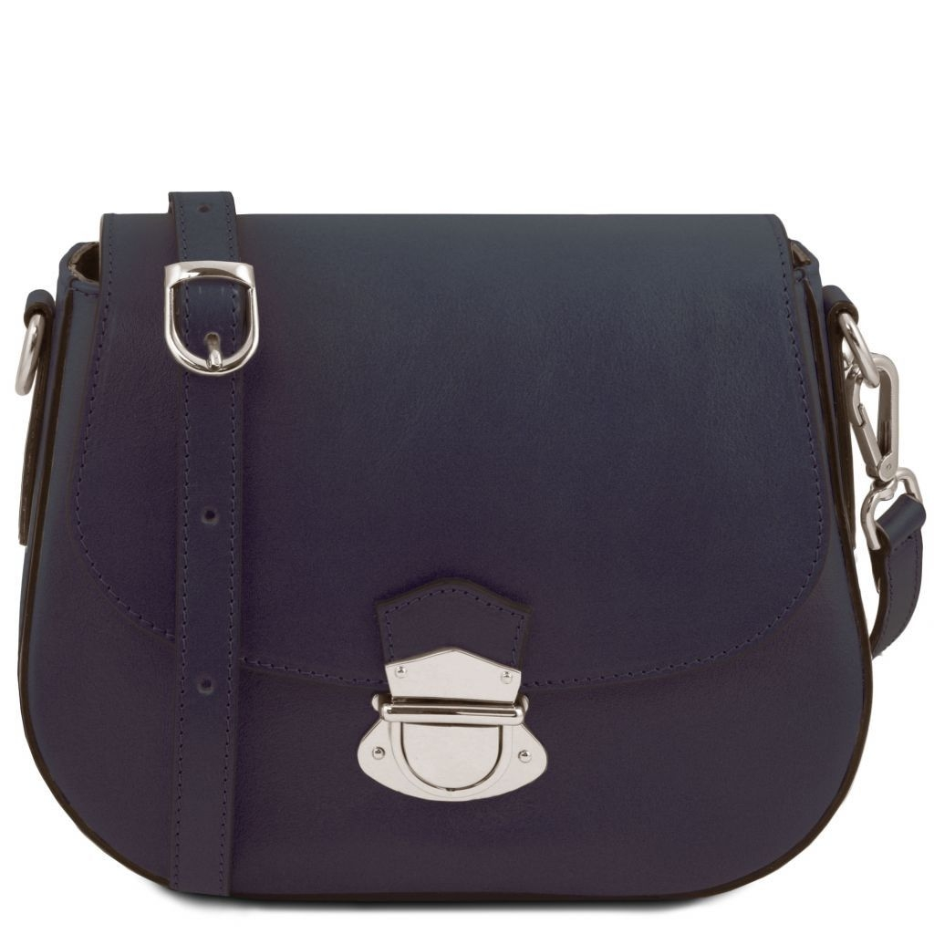 Tuscany Leather TL141517 TL Neoclassic - Leather shoulder bag Dark Blue