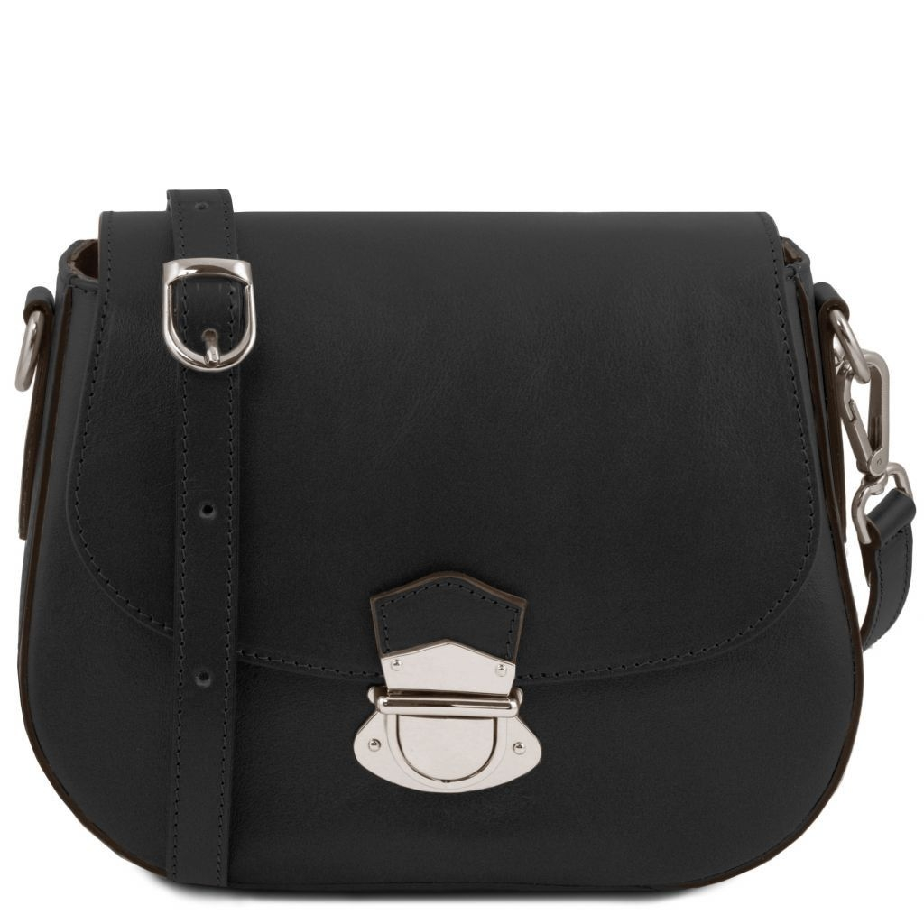 Tuscany Leather TL141517 TL Neoclassic - Leather shoulder bag Black