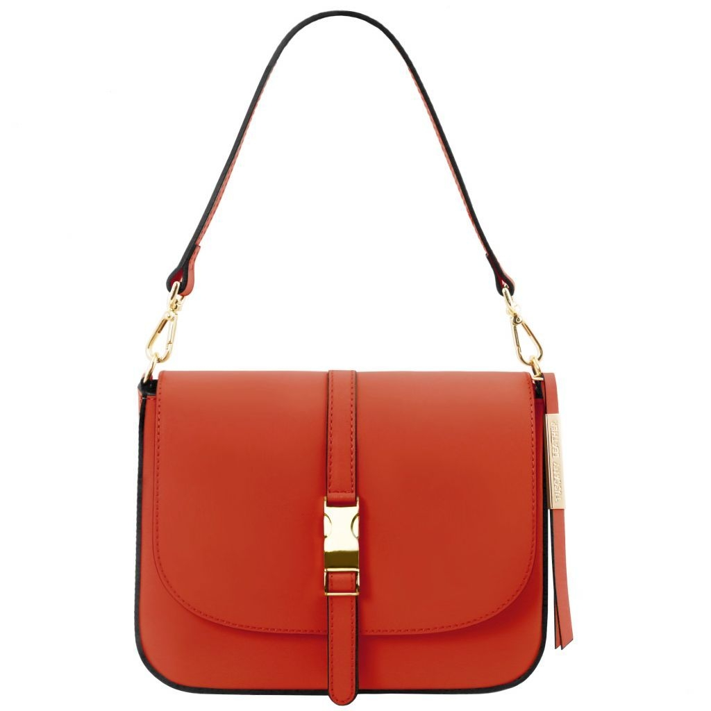 Tuscany Leather TL141598 Nausica - Leather shoulder bag Brandy
