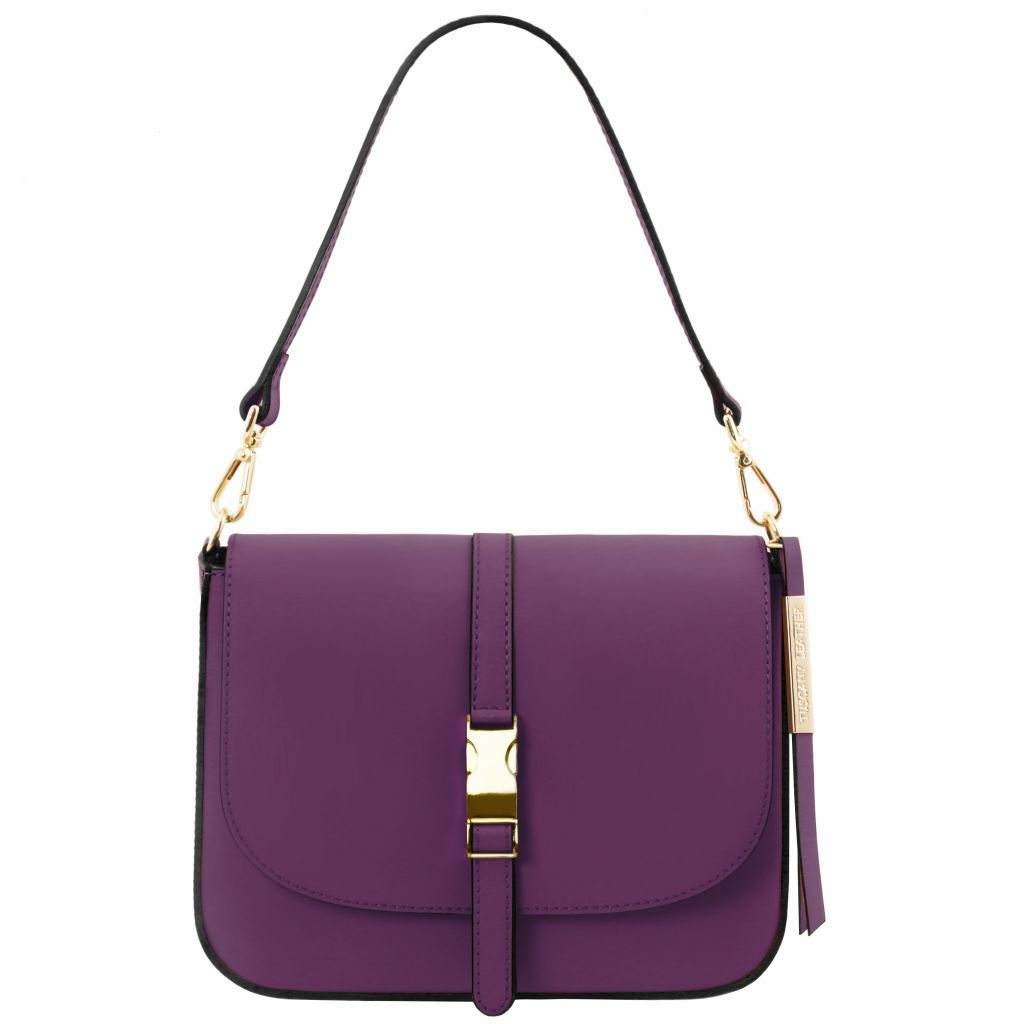 Tuscany Leather TL141598 Nausica - Sac bandoulière en cuir Violet