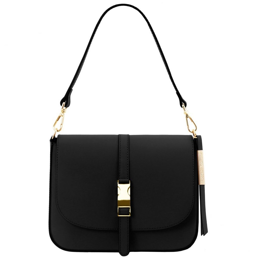 Tuscany Leather TL141598 Nausica - Leather shoulder bag Black