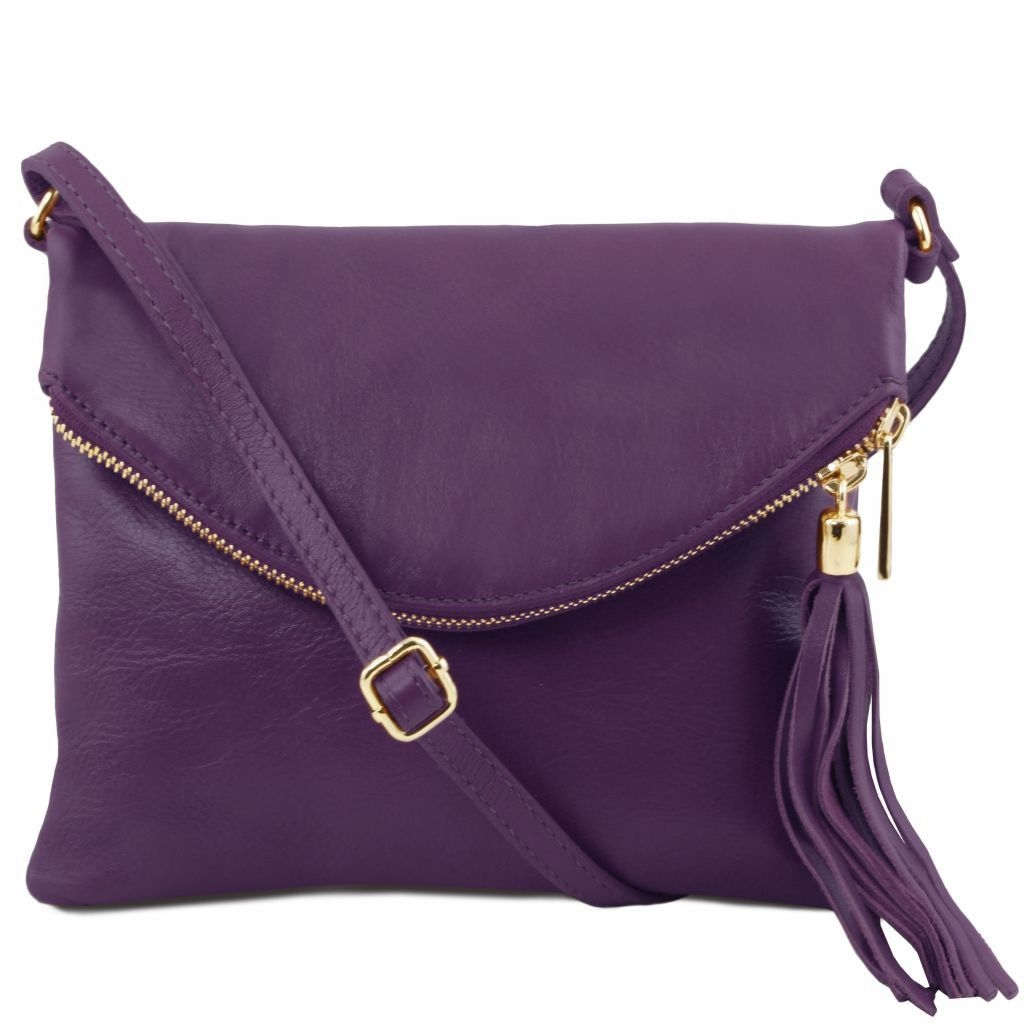 Tuscany Leather TL141153 TL Young bag - Shoulder bag with tassel detail Purple