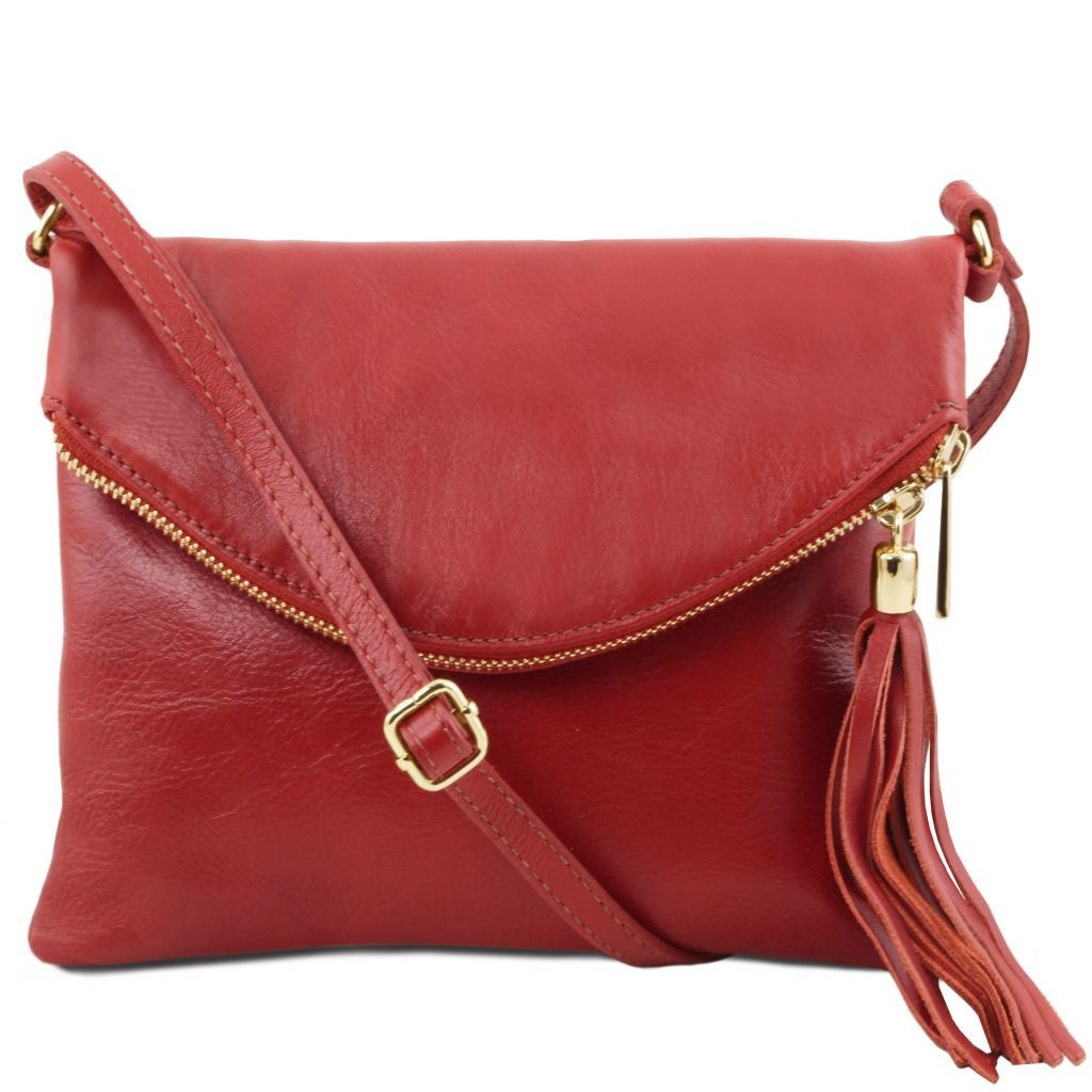 Tuscany Leather TL141153 TL Young bag - Shoulder bag with tassel detail Red