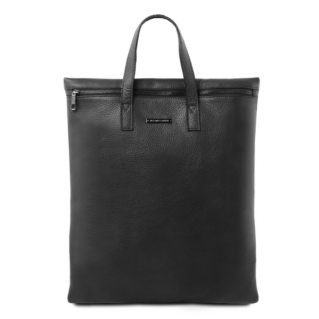 Tuscany Leather TL141680 TL Bag - Vertical soft leather shoulder bag Black