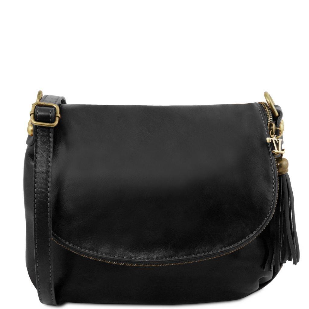 A Nero Tl141223 Con Bag Nappa Morbida Leather Tuscany Tracolla Borsa Tl q4YYF