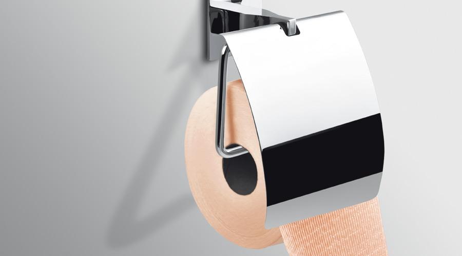 Porta rotolo con coperchio per il bagno serie Forever Colombo design