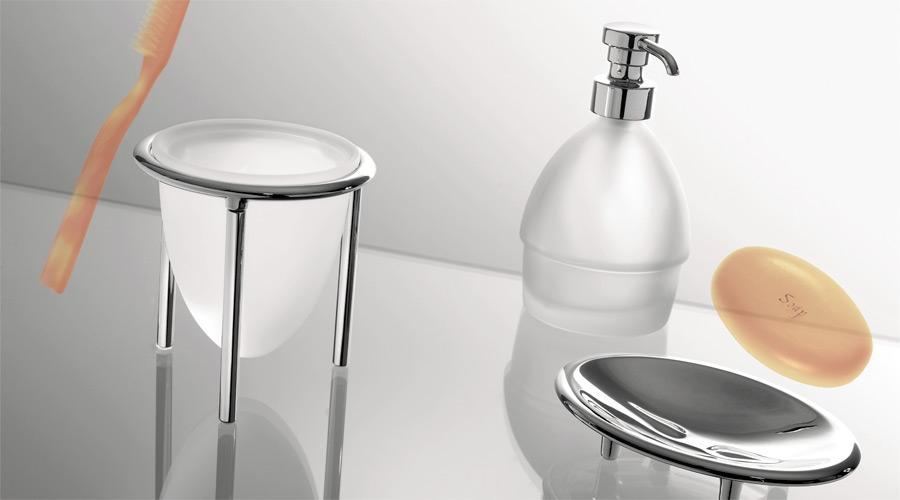 Dispenser dosa sapone da appoggio per il bagno serie Khala Colombo design