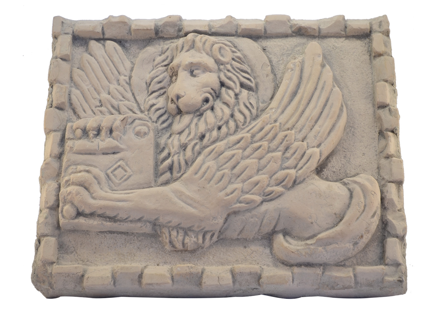 Buy Marble Panel Hand Carved Lion Saint 17457375 | Queency.co.uk