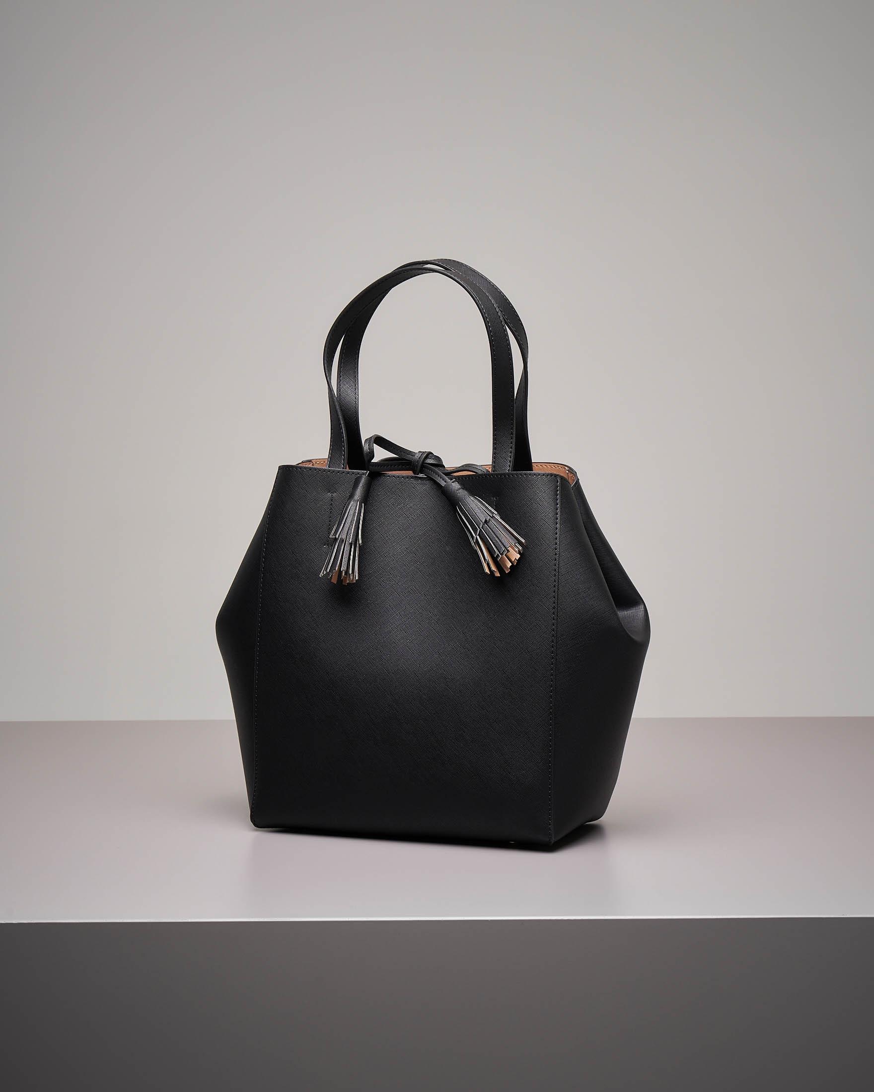 Shopping bag bordeaux in similpelle