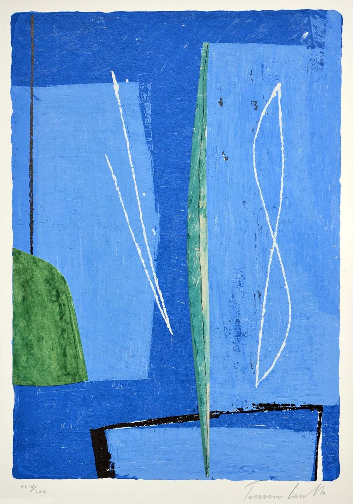 Cascella Tommaso, Composizione1, Serigrafia e collage, Form. cm 73x53
