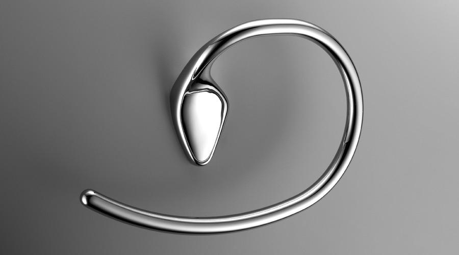Porta salviette ad anello per il bagno serie Khala Colombo design