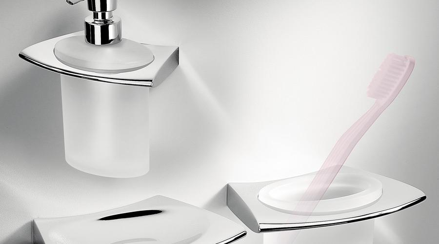 Dispenser dosa sapone a parete per il bagno serie Land Colombo design