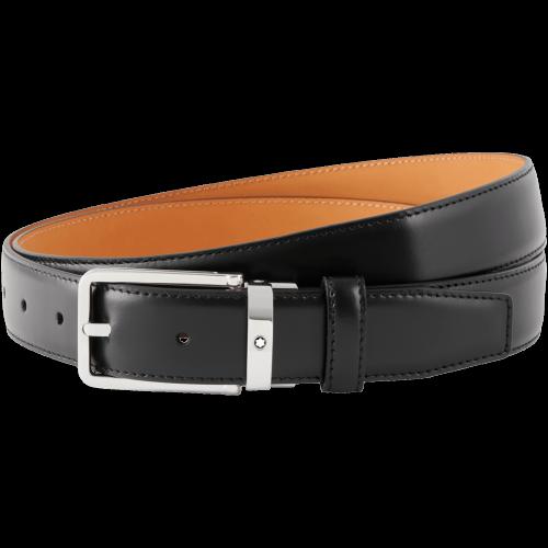 Cintura Montblanc Meisterstück nera elegante cut-to-size