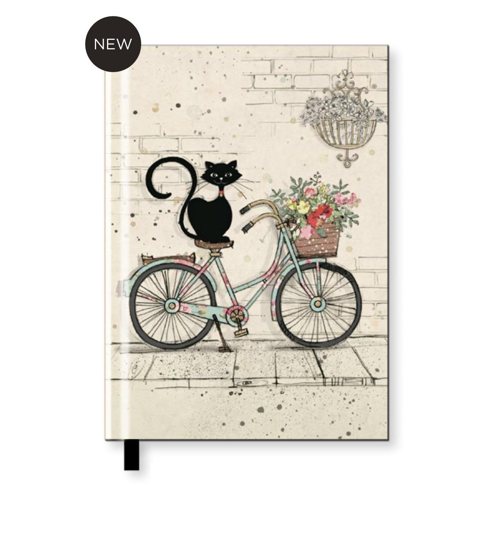 Agendina in formato A6 con un Gattino sulla bici o su un cuscino (Nba6h019)