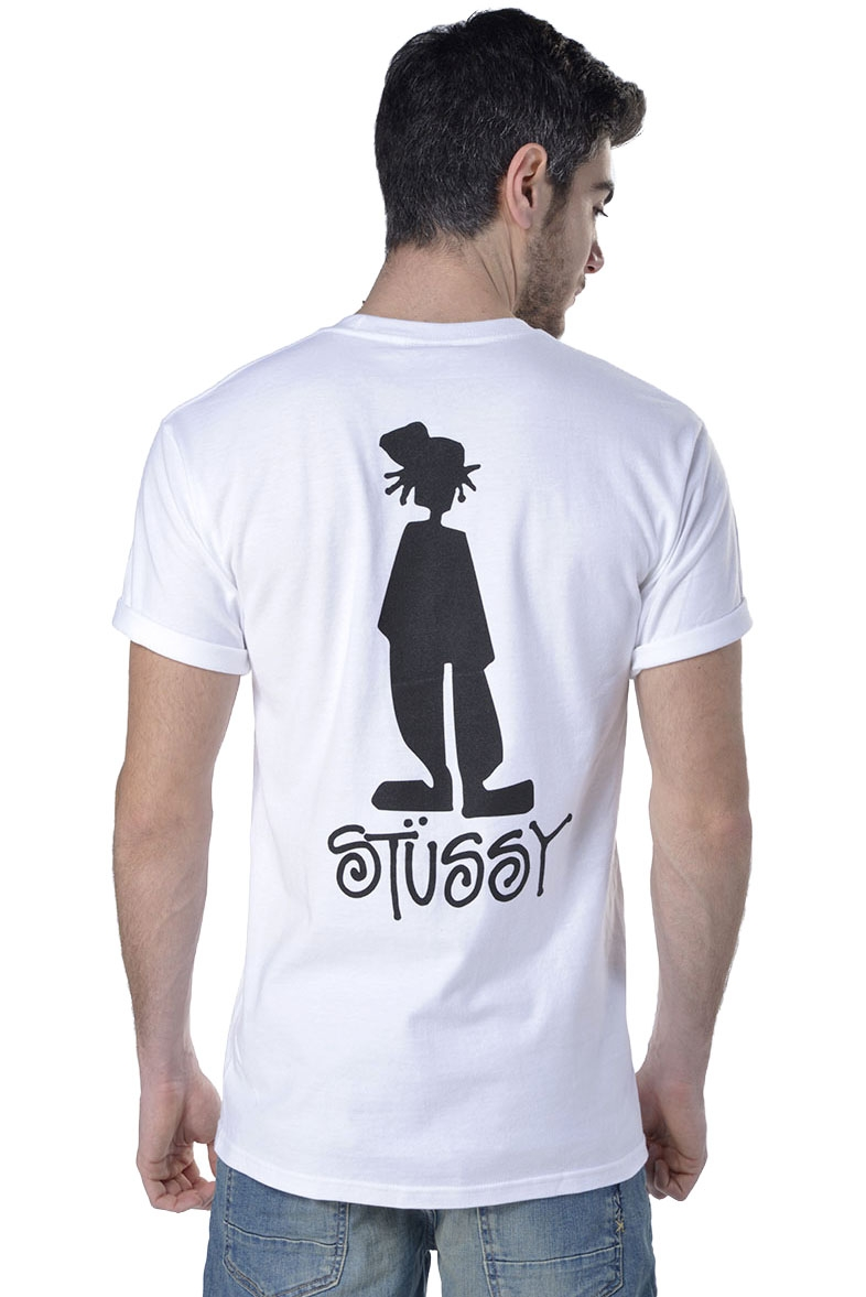 T-shirt uomo Stussy con stampa in cotone bianco - RoncaStyle 65a2473c2fc