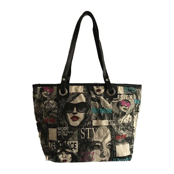 Borsa Shopper Linea Tessuto Donna Trendy
