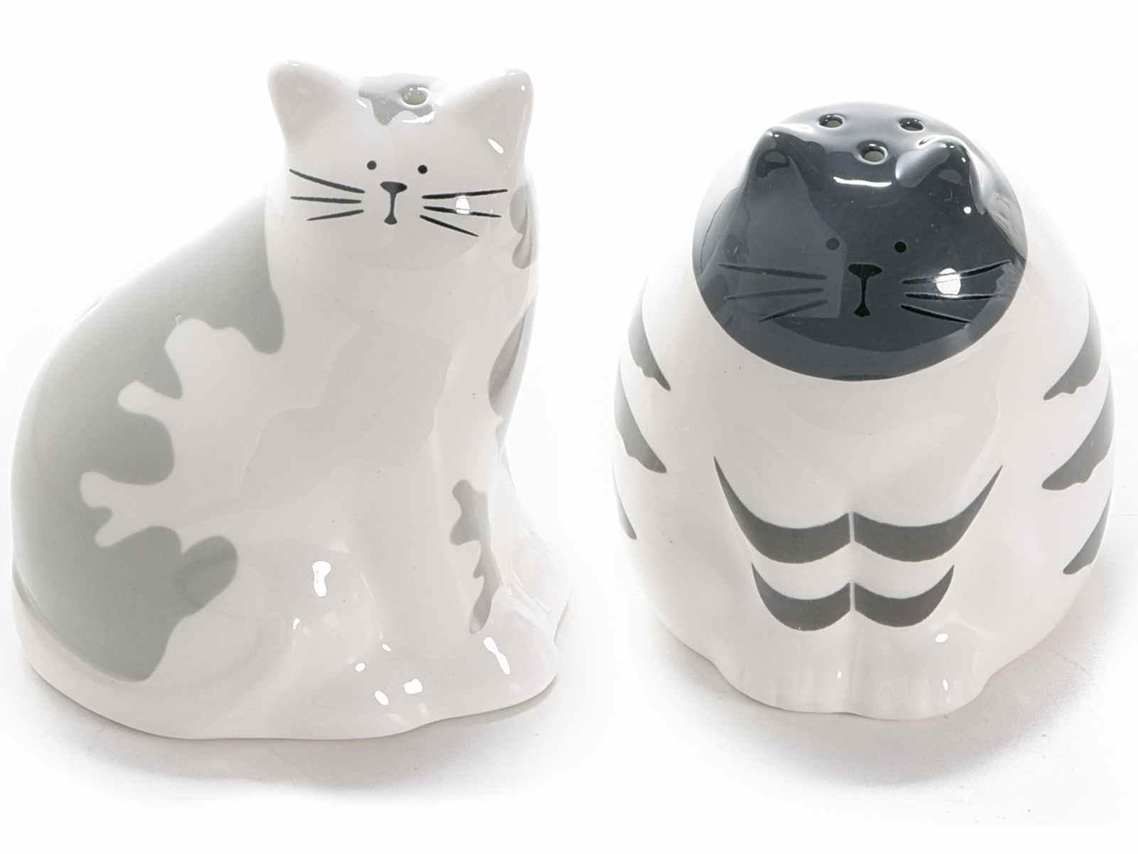 Set sale e pepe a forma di gatto in ceramica colorata (713471)