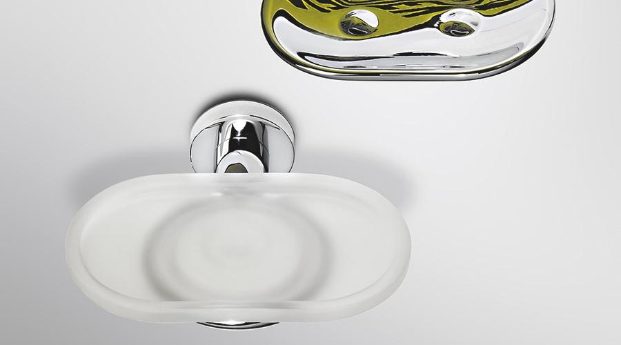 Porta sapone a parete per il bagno serie Basic Colombo design