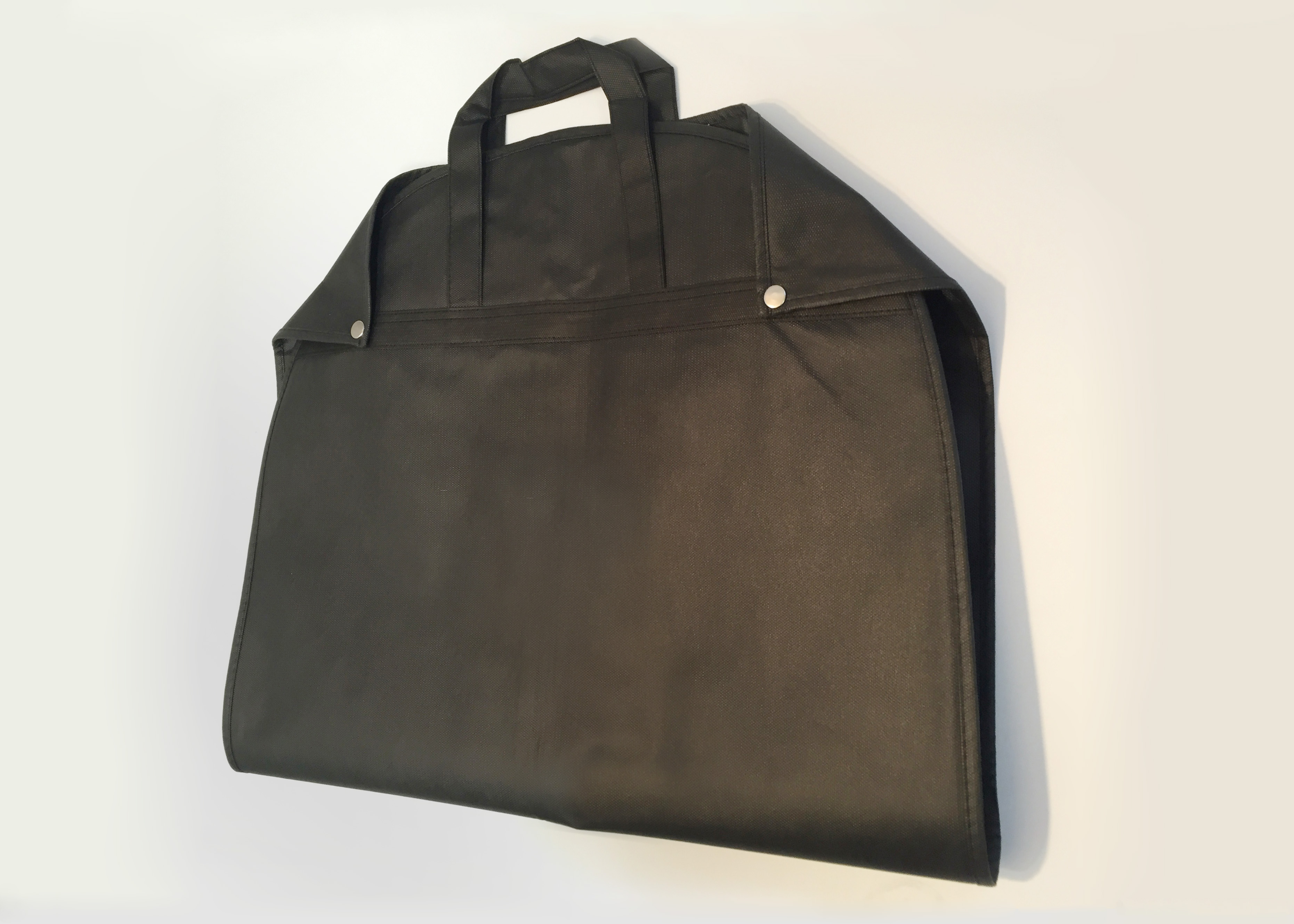BLACK NON WOVEN FABRIC GARMENT BAG