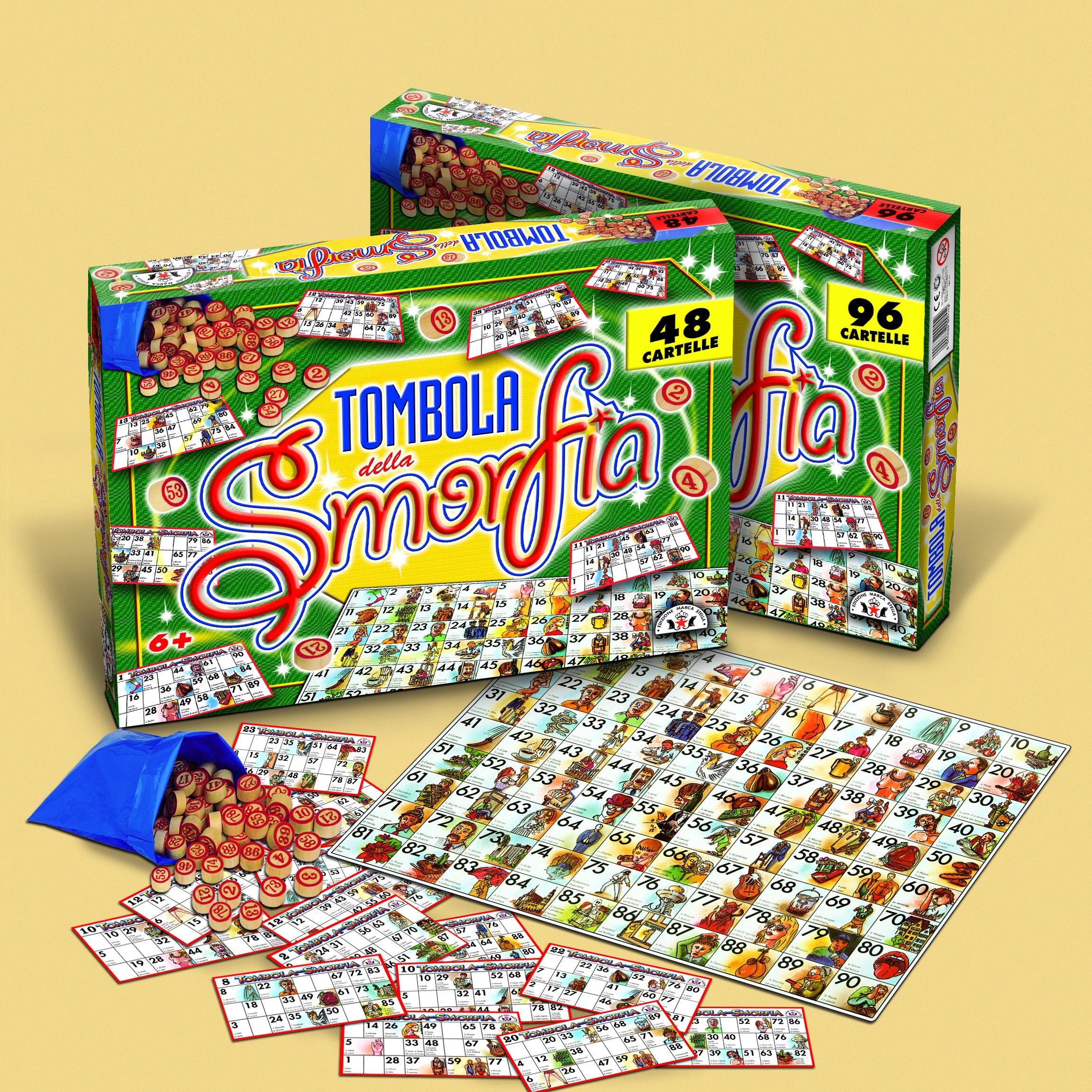TOMBOLA DELLA SMORFIA 96C. 55 ARTI GRAFICHE RUGGERO SALA