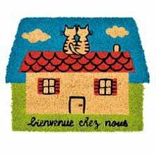 Zerbino in cocco Gatti su tetto (a032-c050020)