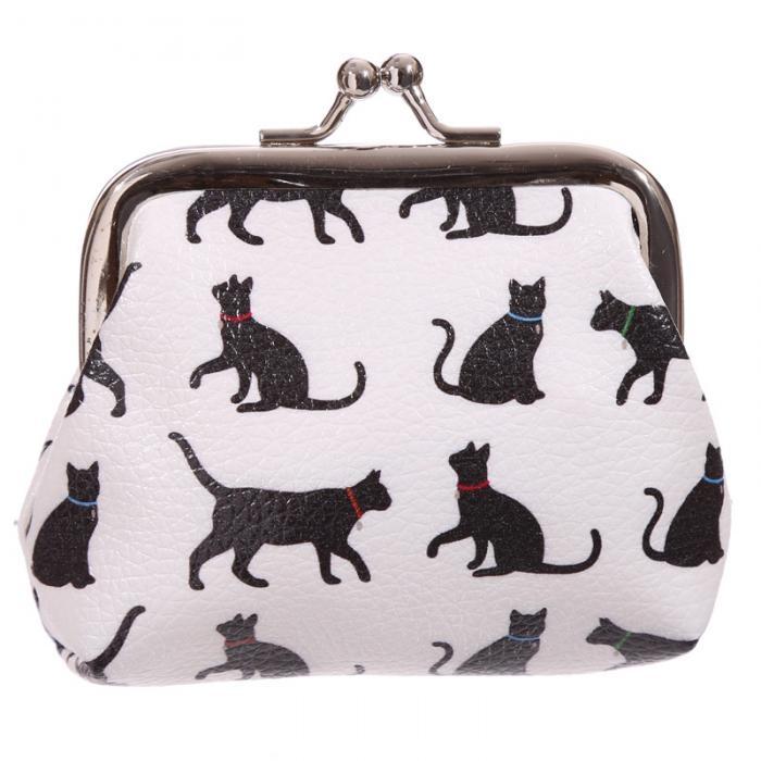 Portamonete clip clap con gattini
