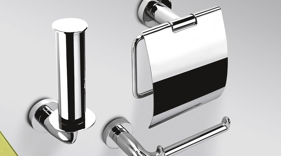 Porta rotolo verticale per il bagno serie Basic Colombo design