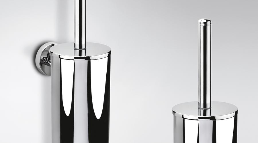 Porta scopino a parete per il bagno serie Basic Colombo design