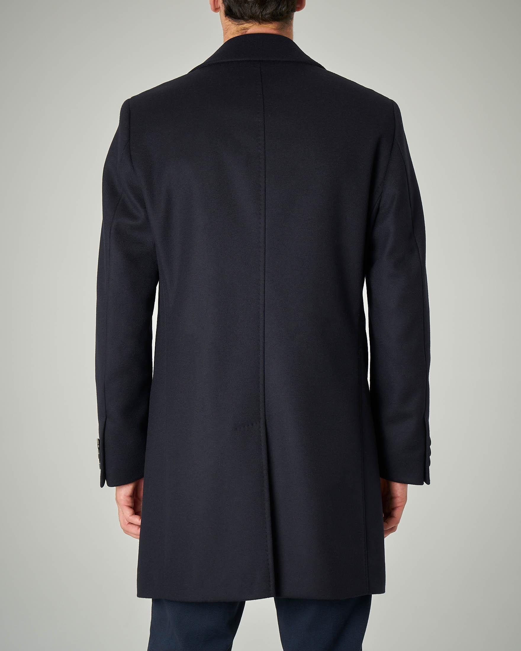 best website cf079 fadb0 Cappotto blu in lana e cachemire | Pellizzari E-commerce
