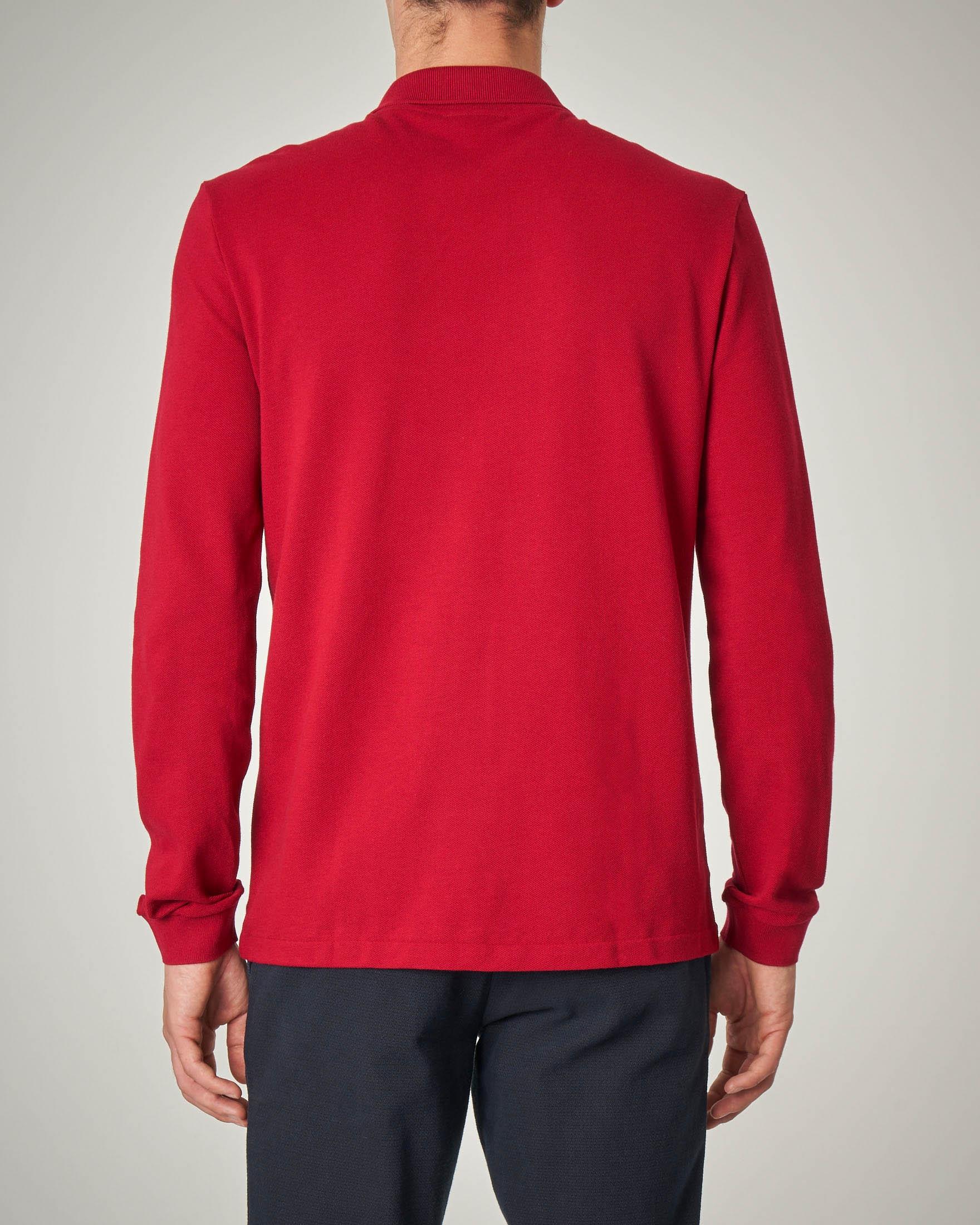 online store 01abe 055af Polo rossa a manica lunga con taschino | Pellizzari E-commerce