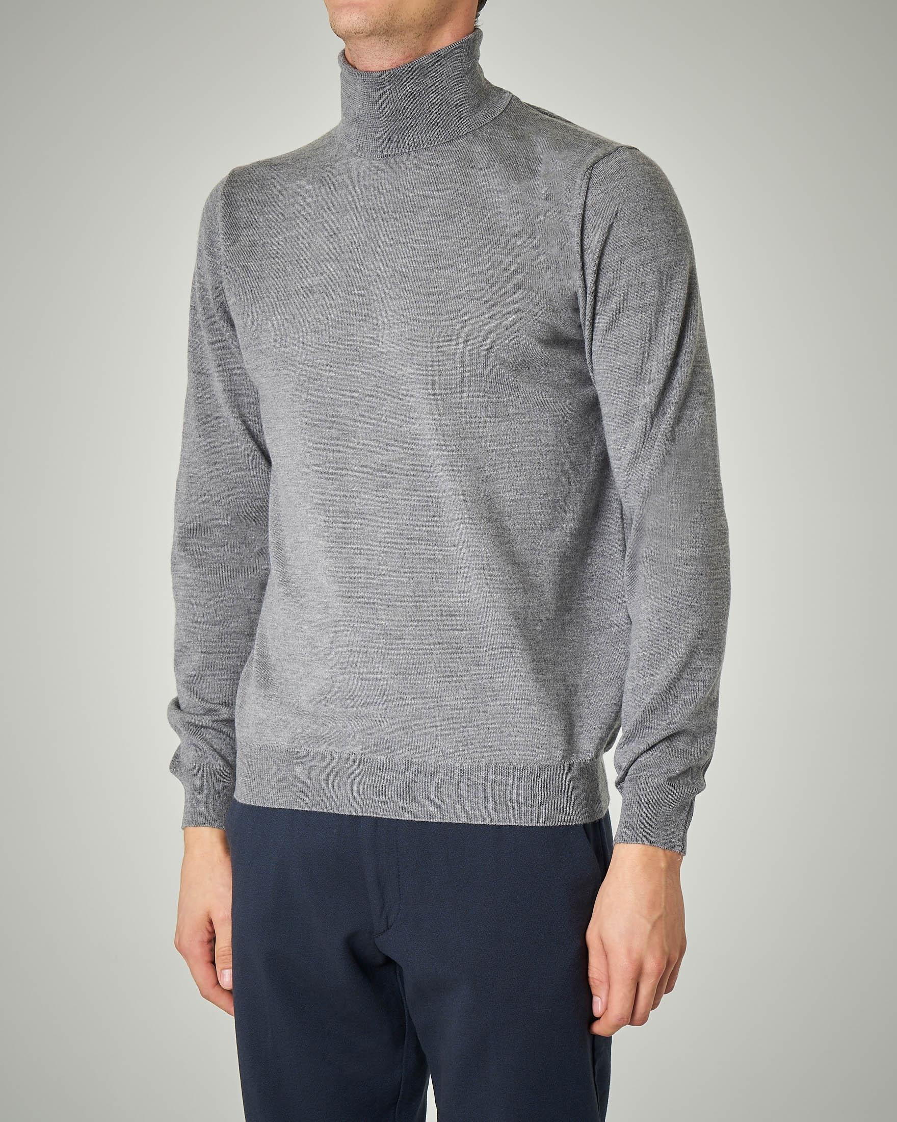 Dolcevita grigio in lana merino